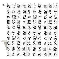 West Africa Adinkra Symbols Shower Curtain