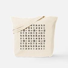 West Africa Adinkra Symbols Tote Bag
