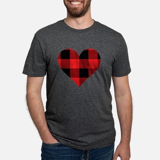 Red PLaid Hear T-Shirt