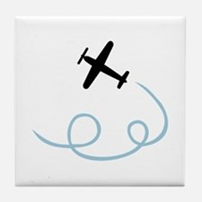 Plane aviation Tile Coaster