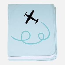 Plane aviation baby blanket