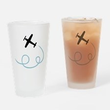 Plane aviation Drinking Glass