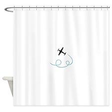 Plane aviation Shower Curtain