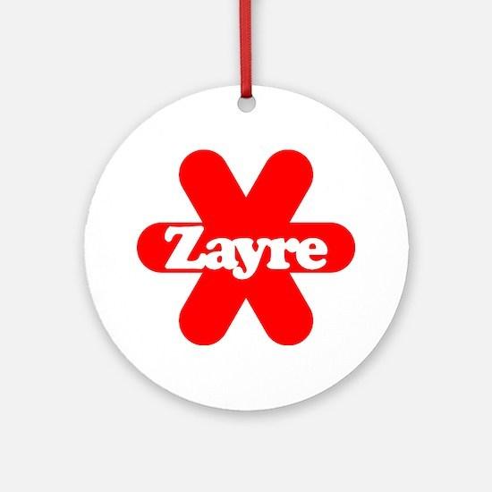 Zayre Star Ornament (Round)