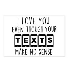 I Love Your Texts Postcards (Package of 8)
