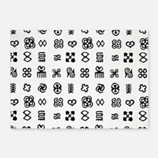 West Africa Adinkra Symbols 5'x7'Area Rug