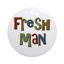Freshman First Year School Ornament (Round)