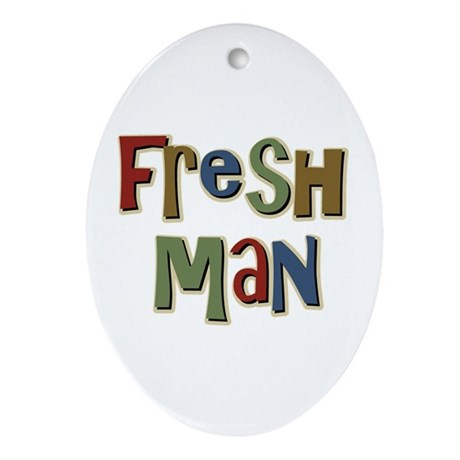 Freshman First Year School Oval Ornament