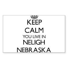 Keep calm you live in Neligh Nebraska Decal
