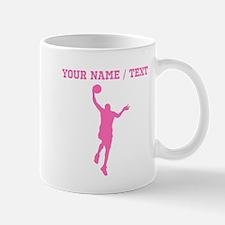 Pink Basketball Layup (Custom) Mugs