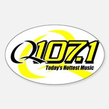 Q107 Oval Decal