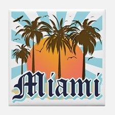 Miami Florida Souvenir Tile Coaster