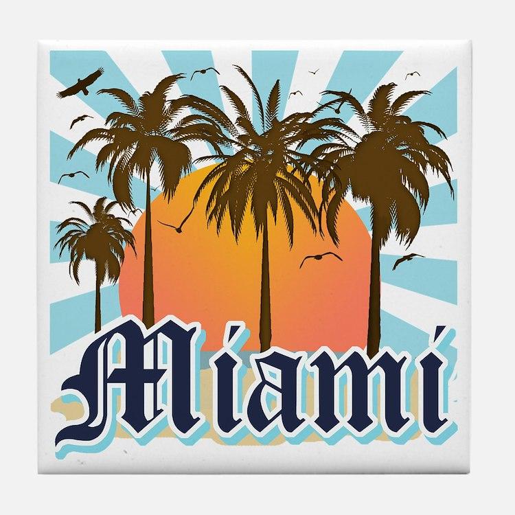 Miami Florida Souvenir Tile Coaster