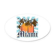 Miami Florida Souvenir Oval Car Magnet
