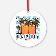 Daytona Beach Florida Round Ornament