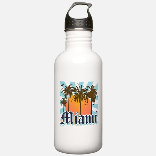 Miami Florida Souvenir Water Bottle