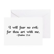 """""""I Fear No Evil"""" Greeting Cards (Pk of 10)"""