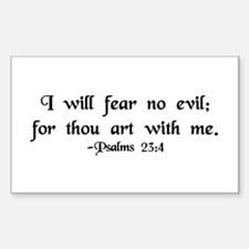 """""""I Fear No Evil"""" Rectangle Decal"""
