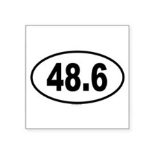 "Cute Number 6 Square Sticker 3"" x 3"""
