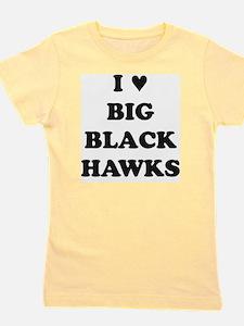 Big Black Hawks Girl's Tee