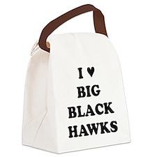 Big Black Hawks Canvas Lunch Bag