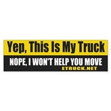 This is my Truck Bumper Car Sticker