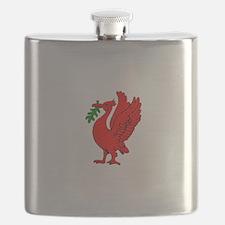 Liverpool Liverbird Flask
