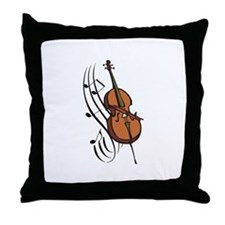 CELLO AND MUSIC Throw Pillow