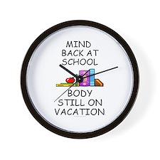 School Mind, Beach Body Wall Clock