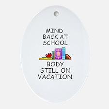 School Mind, Beach Body Ornament (Oval)