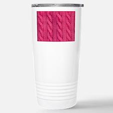 Wool cable stitches Travel Mug