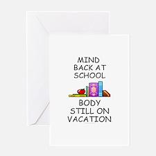 School Mind, Beach Body Greeting Card