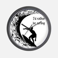 I'd Rather Be Surfing Wall Clock
