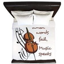 WHEN WORDS FAIL King Duvet