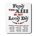 Friday the 13th Mousepad