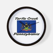 Turtle Creek Pennsylvania Wall Clock