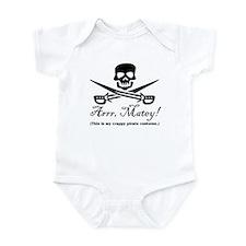 Crappy Pirate Costume Infant Bodysuit