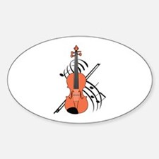 VIOLIN AND MUSIC Decal