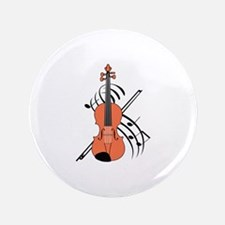 """VIOLIN AND MUSIC 3.5"""" Button"""