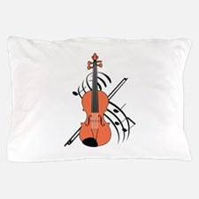 VIOLIN AND MUSIC Pillow Case