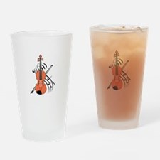 VIOLIN AND MUSIC Drinking Glass
