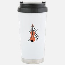 VIOLIN AND MUSIC Travel Mug