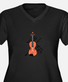 VIOLIN AND MUSIC Plus Size T-Shirt