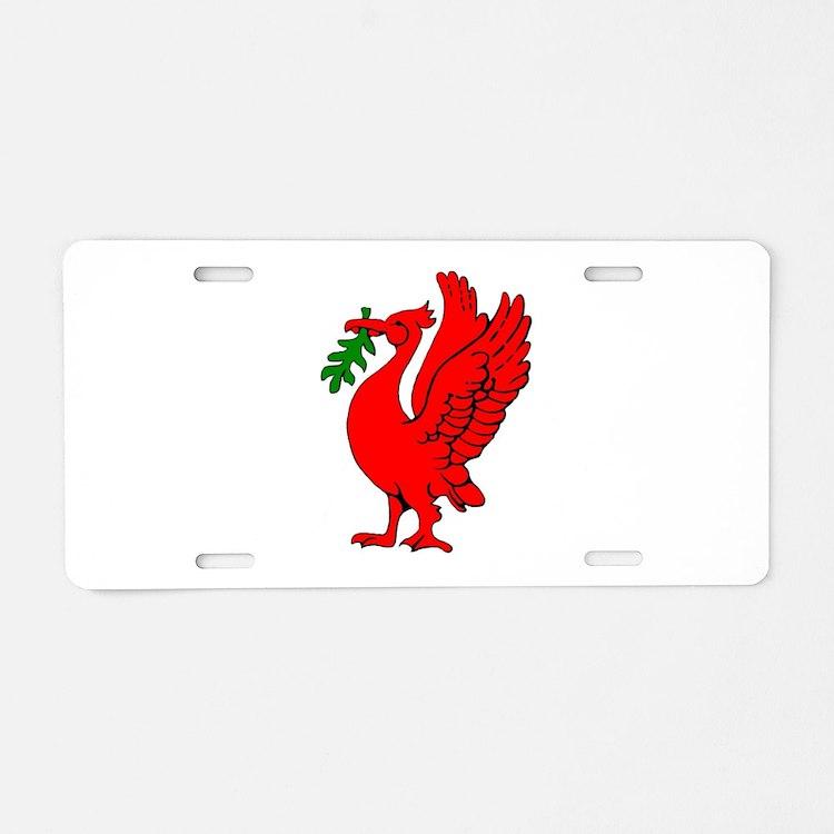 Liverpool Liverbird Aluminum License Plate