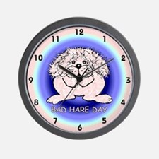 """Bad """"hare"""" day watch Wall Clock"""