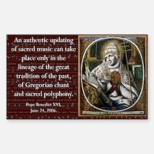 St. Gregory plus Benedict XVI stickers