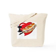 I Love Subway Sandwhich Design. Tote Bag
