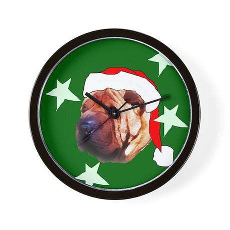 Shar Pei christmas Wall Clock