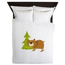 Woodland Bear Queen Duvet