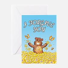 "Baxter Bear: ""I forgive you"" Card"